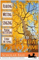 2015 Holiday Programme brochure page 1